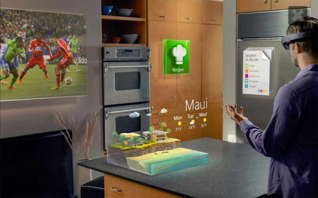 Microsoft Hololens augmented reality